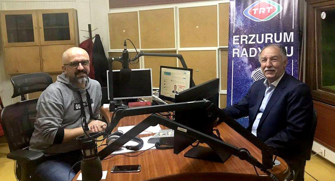 Fırat, TRT Erzurum Radyosu'nun canlı yayın konuğu oldu